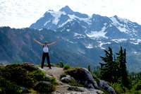 Posing with the Mount Shuksan