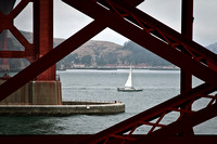 Sail Boat under the Golden Gate Bridge