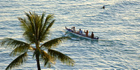 Outrigger Canoe at the Sunset